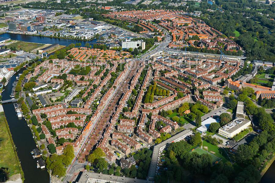 luchtfoto van der pekbuurt