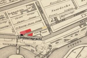 Plattegrond van de werf aan de LooijersslootBron: Beeldbank Amsterdam